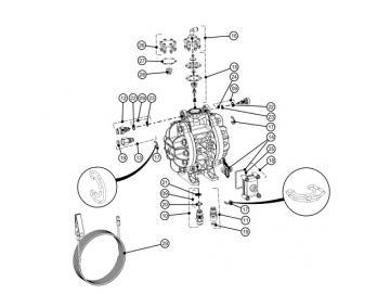 Ein- und Auslassdichtungen des Innengewindes (x 4) für DX70