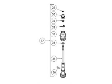 Luftfeinregulierventil für GTI Pro Lite, GTI PRO, Pri Pro Lite, GPi