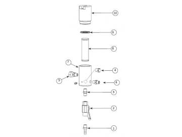 DRAIN DEVICE/Outlet device for HP filter Binks, WIWA