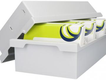 Finixa storage system for spray sample cards