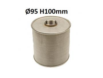 Threaded suction filter, stainless steel