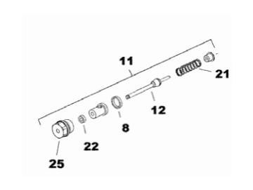 Feder (2 Stück) für Luftventil-Kegel für SRi, SRiW
