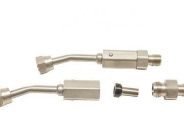 Short Stainless steel bended filter holder