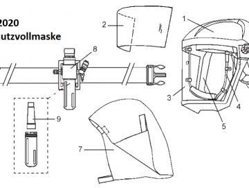 Iwata AIRFED 2020 Kopfhelm und Helmband