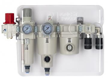 """THREE-STAGE FILTER GROUP - pre-filter, fine filter and activated carbon filter (G 1/2 """"IG)"""
