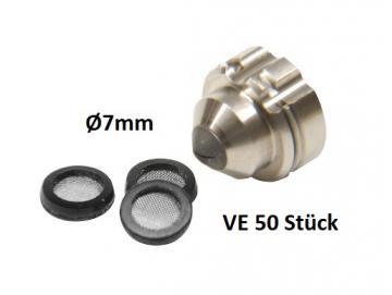 Micro sieve for Kremlin nozzle
